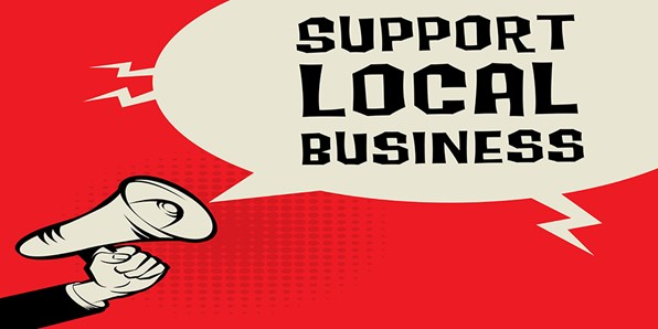 Support Local Business Megaphone