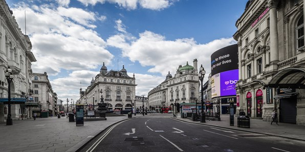 London Piccadilly Circus Lockdown 2020